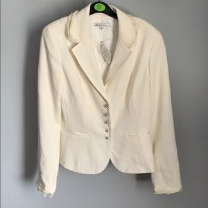 NWT! Lillie Rubin Ladies White Evening Jacket